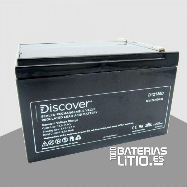 D12120D Batería de Tracción - Barredoras - AGM - - Todo Baterías Litio