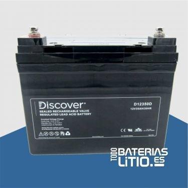 D12350D Batería de Tracción - Barredoras - AGM - Todo Baterías Litio