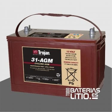 Trojan Monoblock 31-AGM Todo Baterias Litio