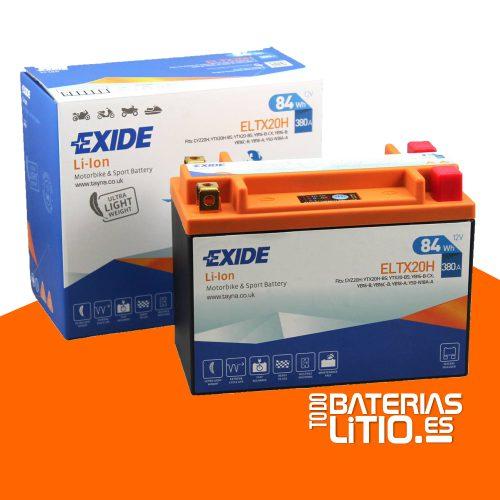 ELTX20H - EXIDE - Baterías para motocicletas - TODO BATERIAS LITIO
